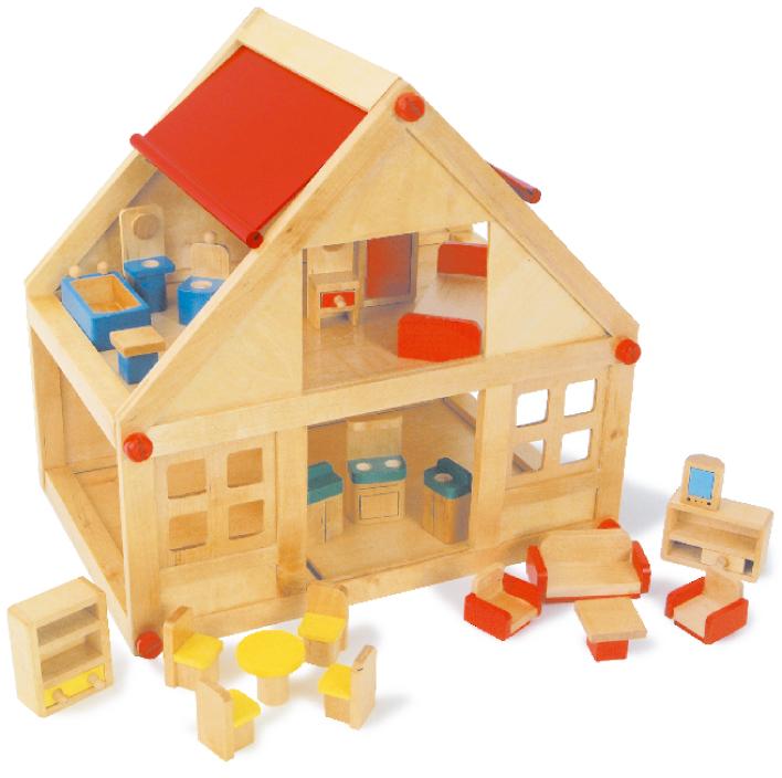 Casa delle bambole in legno for Casette in legno prezzi scontati