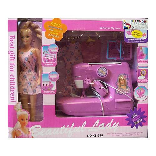 Beautiful lady bambola con macchina per cucire de longhi for Macchina per cucire per bambini