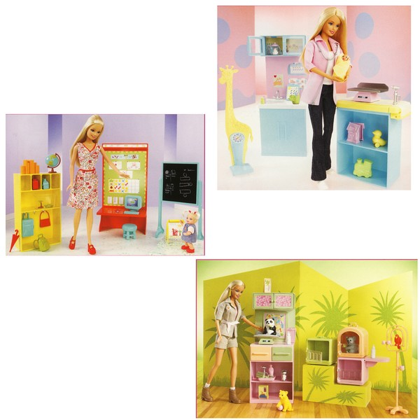 Barbie in carriera bambole per bambine for Accessori per la casa di barbie