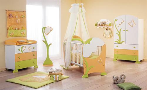 Cameretta bucaneve una cameretta nella quale l atmosfera da sogno e la bellezza dei fiori - Sponde letto bambini prenatal ...