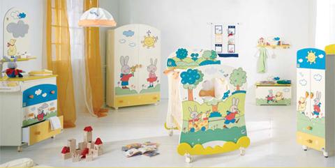 Cameretta giulio coniglio per trasformare in una fiaba dai mille colori la stanzetta del piccolino - Accessori per camerette neonati ...