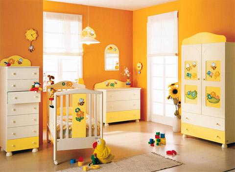 Cameretta natura azur un ambiente colorato e solare in cui il bimbo percepir ogni giorno la for Decori per camerette neonati