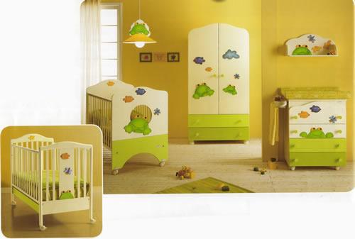Camerette Bambini Neonato Azzurro Tenda Sticker Tappeto Di Show Room