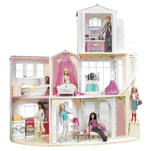 Barbie casa e accessori per la cameretta for Accessori per la casa di barbie