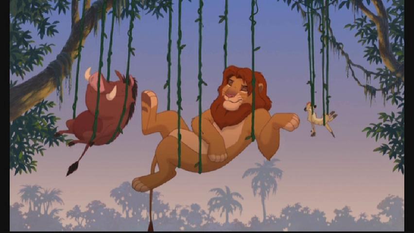 Cartone animato il re leone hakuna matata