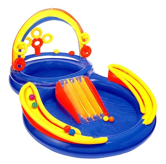 Parco giochi gonfiabile rainbow - Amazon piscina bambini ...